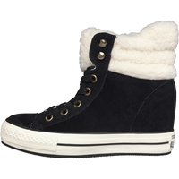 Converse Womens CT All Star Platform Plus Hi Winter Lined Suede Black