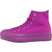 Converse Womens CT All Star Hi Platform Mono Trainers Purple