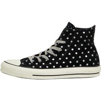 Converse Womens CT All Star Hi Suede Polka Dots Trainers Black/White