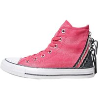 Converse Womens CT All Star Hi Triple Zip Trainers Cosmos Pink/Black/White