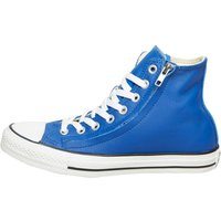 Converse CT All Star Hi Double Zip Leather Trainers Blue