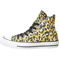 Converse CT All Star Hi Leopard Trainers Black/White/Yellow