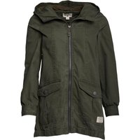 Converse Womens Elastic Mid Length Hooded Parka Jacket Grape Leaf