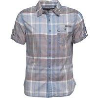 Converse Mens Gunter Pocket Checked Short Sleeve Shirt Indigo Milk Multi