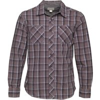 Converse Mens Sachiel Woven Checked Long Sleeve Shirt Charcoal Grey