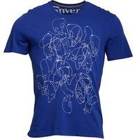 Converse Mens Gluttony Graphic T-Shirt Vivid Blue