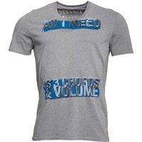 Converse Mens 3 Chords Graphic V-Neck T-Shirt Phantom Heather