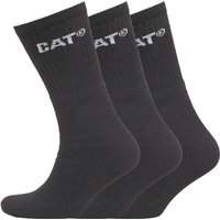 Caterpillar Mens Three Pack Crew Socks Black
