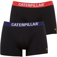 Caterpillar Mens Two Pack Boxers Black/Red