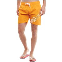 Crosshatch Mens Makins Swim Shorts Orange Pepper