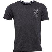 Crosshatch Mens Bravo T-Shirt Charcoal Marl