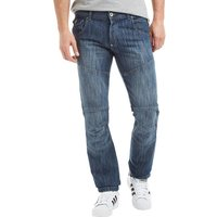 Crosshatch Mens Newport Jeans Stone Wash