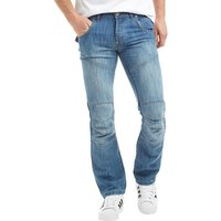 Crosshatch Mens Newport Jeans Light Wash