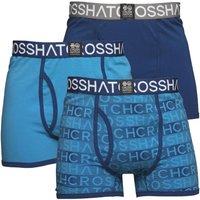 Crosshatch Mens Phazer Three Pack Boxers Limoges/Malibu Blue