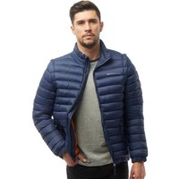 Crosshatch Mens Zip Off Padded Jacket With Removable Sleeves Mood Indigo