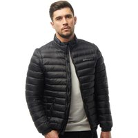 Crosshatch Mens Zip Off Padded Jacket With Removable Sleeves Black