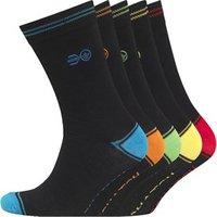 Crosshatch Mens Chevy Five Pack Socks Black