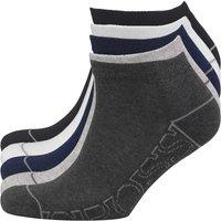 Crosshatch Mens Tibula Five Pack Trainer Socks Black/White/Navy/Light Grey/Dark Grey