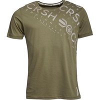 Crosshatch Mens Camo Cru T-Shirt Dusky Olive