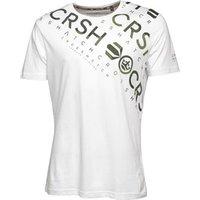 Crosshatch Mens Camo Cru T-Shirt White