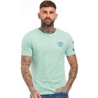 Crosshatch Mens Kremton T-Shirt Aqua Sea