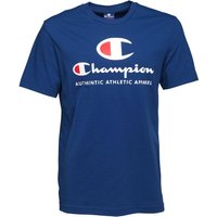 Champion Mens Large Logo T-Shirt Blue