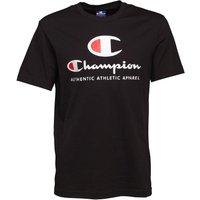 Champion Mens Large Logo T-Shirt Black