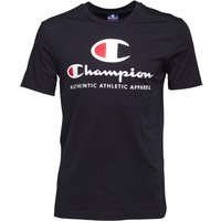 Champion Mens Large Logo T-Shirt Navy