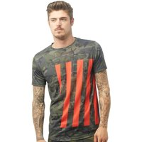 DFND London Mens Caller T-Shirt Jungle Camo