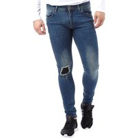DFND London Mens Desert Skinny Jeans Stonewash