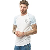 DFND London Mens Anthony Reflective T-Shirt Sky Blue/White