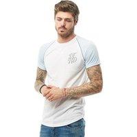 DFND London Mens Anthony Reflective T-Shirt Sky Blue/White