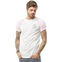 DFND London Mens Anthony Reflective T-Shirt Pink/White