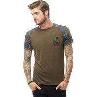 DFND London Mens Bara T-Shirt Khaki/Camo/Khaki