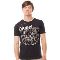 Diesel Mens Ballock T-Shirt Black