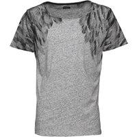 Diesel Mens Me-T-Markus T-Shirt Light Grey Melange