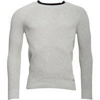 Diesel Mens K-Alby Knitwear Jumper Light Grey Melange