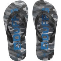 DuFFS Junior Camouflage Flip Flops Black Camo