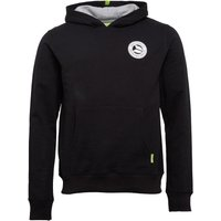 DuFFS Mens Hoody With Chest Print Black