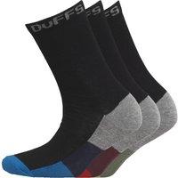 DuFFS Boys Three Pack Socks Black/Red/Green/Blue/Grey