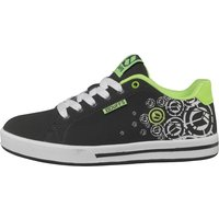 DuFFS Boys Spectrum Printed Skate Shoes Charcoal/White/Lime