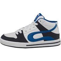DuFFS Boys Ariel Hi Skate Shoes White/Navy/Royal