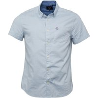 Duck and Cover Mens Frigate Short Sleeve Oxford Shirt Glacier