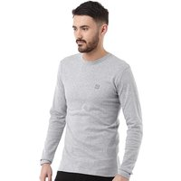 Duck and Cover Mens Stock Long Sleeve T-Shirt Light Grey Marl