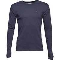 Duck and Cover Mens Stock Long Sleeve T-Shirt Blue Marl