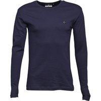 Duck and Cover Mens Stock Long Sleeve T-Shirt Navy