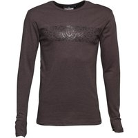Duck and Cover Mens Baldwin Long Sleeve T-Shirt Anthracite Marl