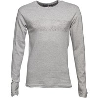 Duck and Cover Mens Baldwin Long Sleeve T-Shirt Light Grey Marl