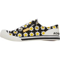 Rocket Dog Womens Jazzin Daisy Field Cotton Pumps Black