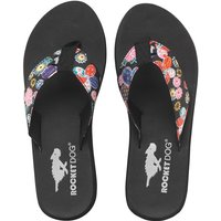 Rocket Dog Womens Nina Kung Fu Funk Flip Flops Black/Multi